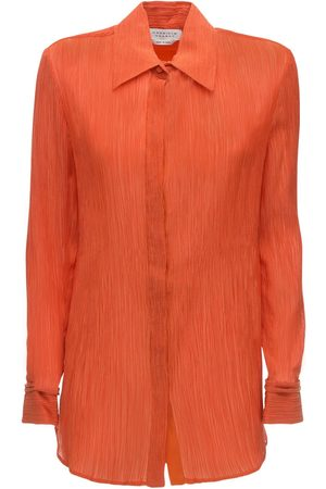 GABRIELA HEARST Lvr Sustainable Cotton Blend Crepe Shirt
