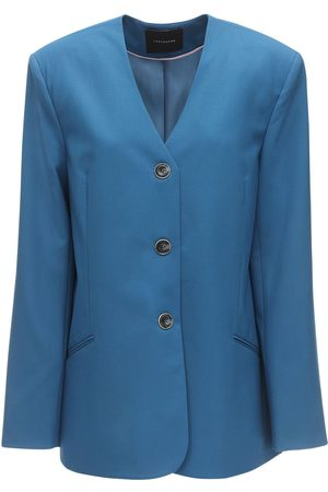 LESYANEBO Cool Wool Single Breasted Blazer