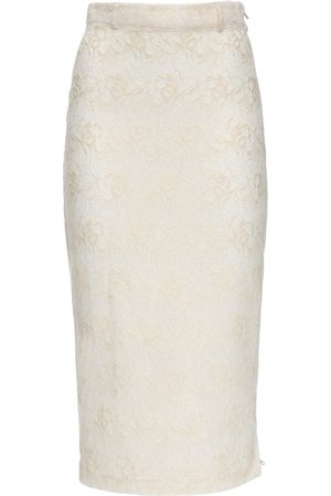 MARYAM NASSIR ZADEH Philo Lace Midi Skirt