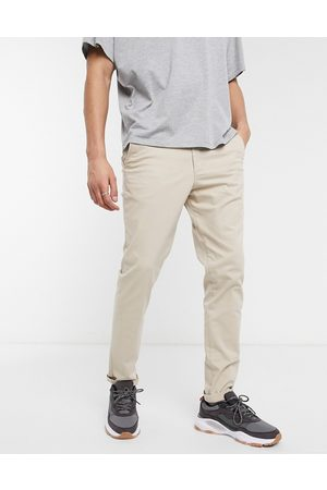 Jack & Jones Intelligence slim fit chinos in sand-Tan