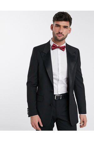 ASOS Slim tuxedo suit jacket in