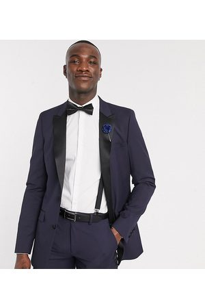 ASOS Suits - Tall skinny tuxedo suit jacket in navy