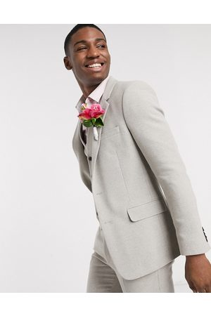 ASOS Suits - Wedding skinny suit jacket in putty wool blend twill