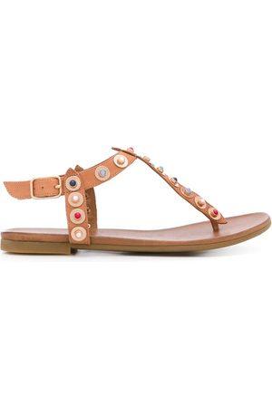 Carvela Kankan cabochon-embellished sandals - Neutrals