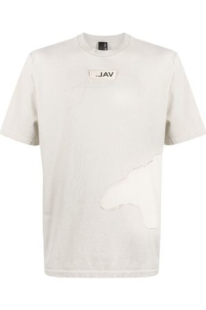 VAL KRISTOPHER Logo patch T-shirt - Neutrals