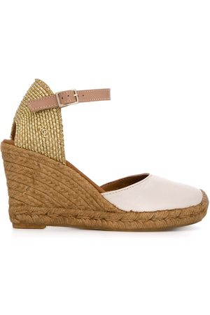 Kurt Geiger Monty high wedge heel espadrilles - NEUTRALS
