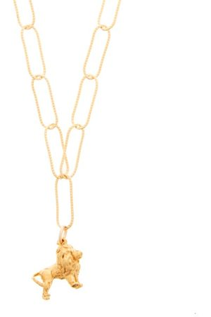 Alighieri Women Necklaces - Baby Lion In The Night 24kt -plated Necklace - Womens