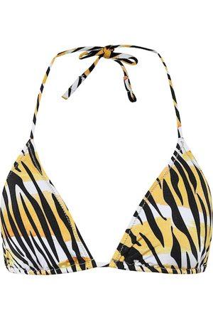 Reina Olga Women Bikinis - Love tiger-print bikini top