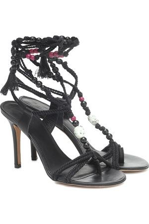 Isabel Marant Ampoi embellished leather sandals
