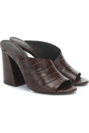 Mercedes Castillo Izar croc-effect leather sandals