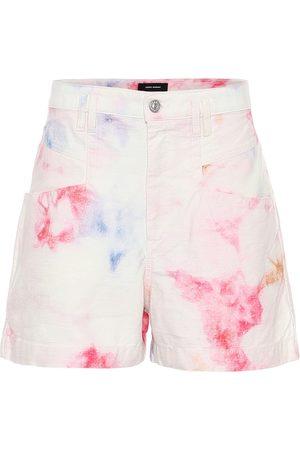 Isabel Marant Esquia high-rise tie-dye shorts