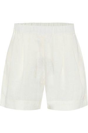 ASCENO Zurich wide-leg linen shorts