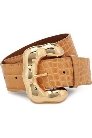 REJINA PYO Boule croc-effect leather belt