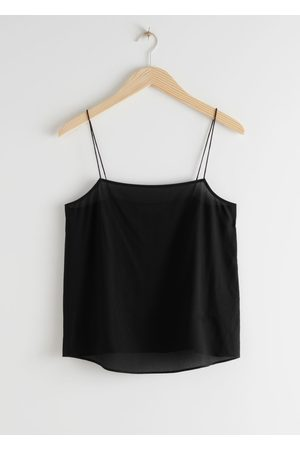 & OTHER STORIES Women Camisoles - Silk Crepe Strap Top