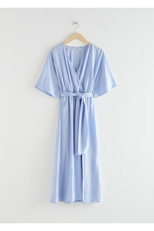 & OTHER STORIES Belted Kimono Wrap Midi Dress