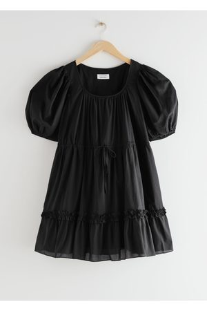& OTHER STORIES Voluminous Puff Sleeve Mini Dress