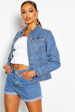 Boohoo Womens Denim Western Jacket - - 12