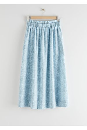 & OTHER STORIES Frilled Midi Skirt