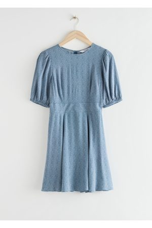 & OTHER STORIES Puff Sleeve Mini Dress