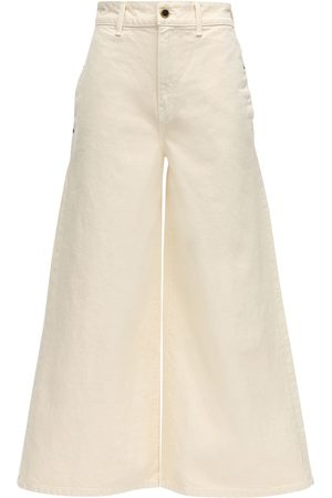 Khaite Darcy Wide Leg Cotton Denim Jeans