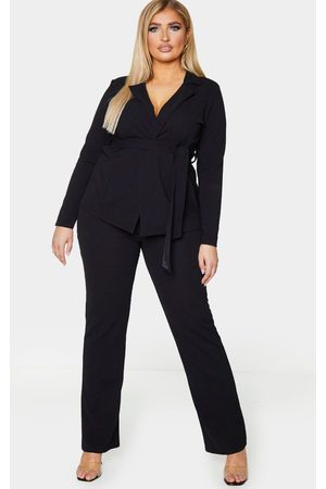 PRETTYLITTLETHING Plus Straight Leg Suit Pants