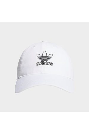adidas Women Hats - Women's Originals Outline Relaxed Precurved Strapback Hat in 100% Cotton