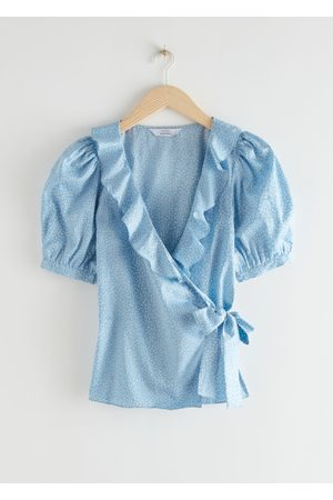 & OTHER STORIES Frilled Wrap Blouse