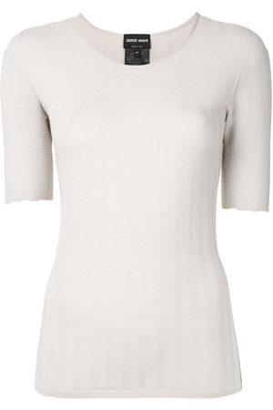Armani U-neck jumper - Grey