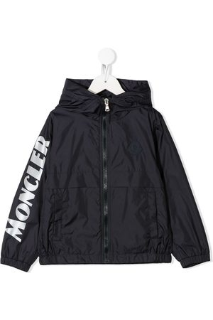 Moncler Logo print patch detail rain jacket