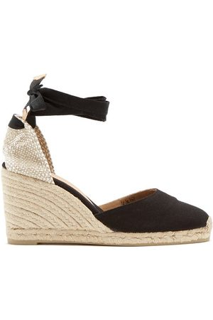 Castaner Women Wedge Sandals - Carina 80 Canvas & Jute Espadrille Wedges - Womens