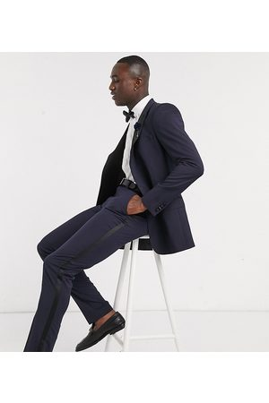 ASOS Tall skinny tuxedo suit pants in navy
