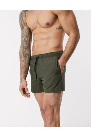 ASOS Men Swim Shorts - Swim shorts in khaki short length