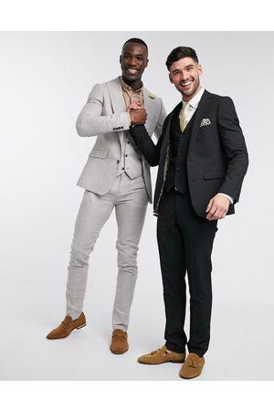 Harry Brown Slim fit plain suit jacket