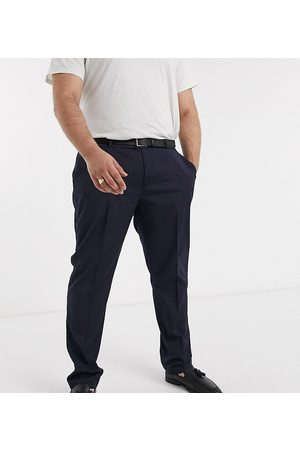 ASOS Plus skinny tuxedo suit pants in navy