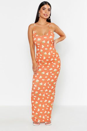 Boohoo Womens Petite Large Scale Floral Strappy Maxi - - 2