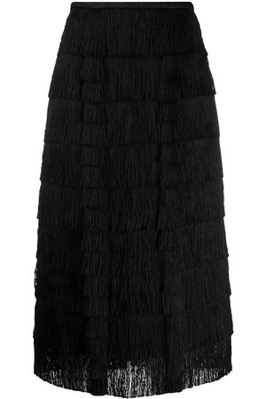 MARCO DE VINCENZO Women Skirts - Layered fringe skirt