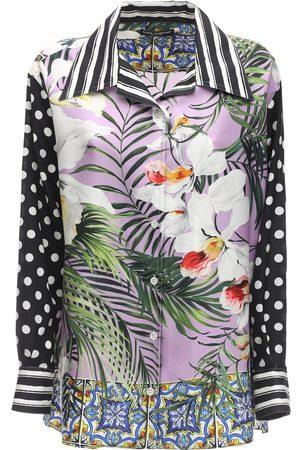 Dolce & Gabbana Jungle Printed Silk Twill Shirt