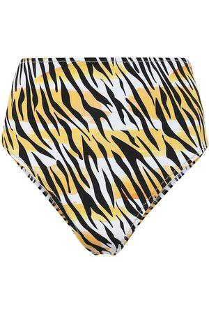 Reina Olga Hutton tiger-print bikini bottoms
