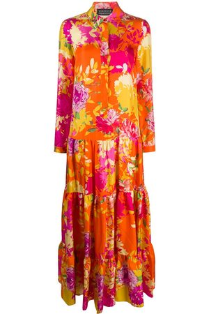 GIANLUCA CAPANNOLO Gorgia flower print maxi dress