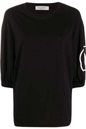 VALENTINO Women T-shirts - VLOGO puff sleeves T-shirt