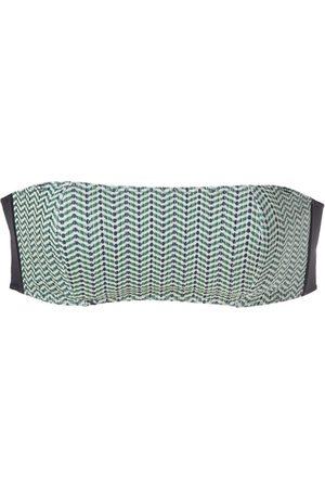 Track & Field Patterned bandeau bikini top