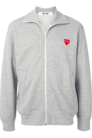 Comme des Garçons Rear logo print hoodie - Grey