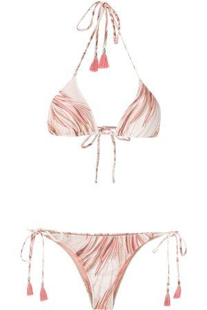 Lygia & Nanny Maya printed bikini set - Neutrals