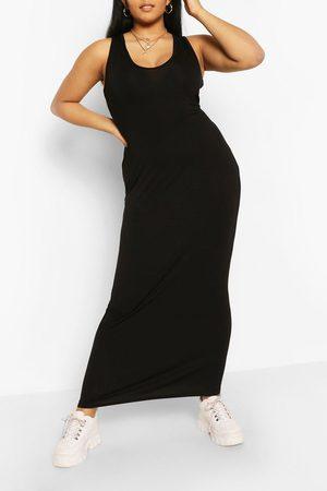 Boohoo Womens Plus V Neck Jersey Maxi Dress - - 12