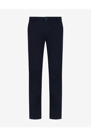 Armani Men Chinos - Chino Navy Cotton, Elastane