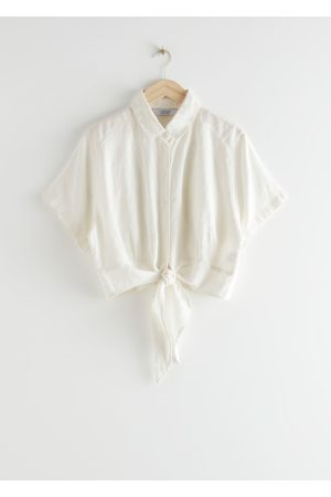 & OTHER STORIES Front Tie Linen Blouse
