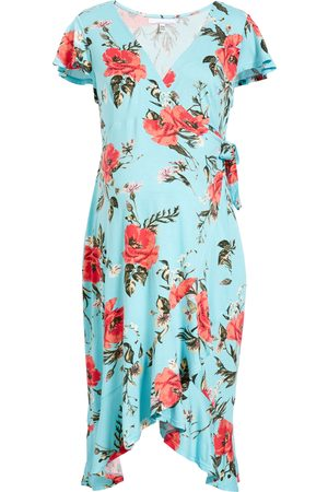 Fourteenth Place Women's Flutter Sleeve Wrap Maternity Dress