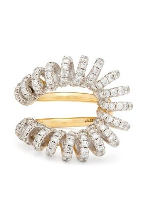 Ana Khouri Maia Diamond & 18kt Gold And White-gold Ring - Womens - Crystal
