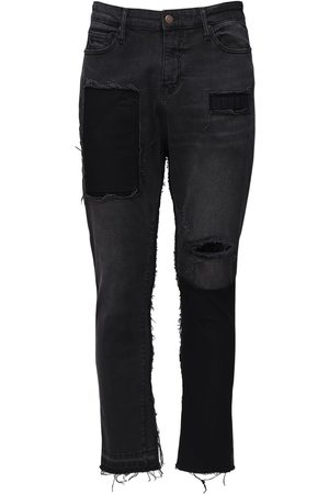 VAL. KRISTOPHER 15cm Stationary Cotton Denim Jeans