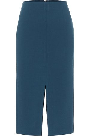 Roland Mouret Exclusive to Mytheresa – Moka wool-crêpe pencil skirt